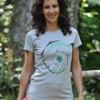 T-shirt langue équitable gris