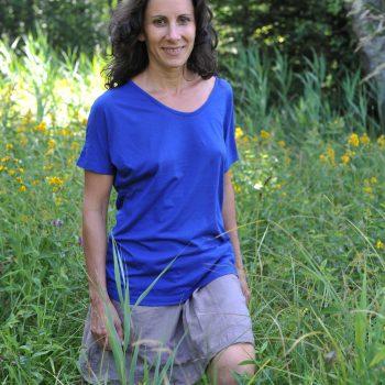 T-shirt sans couture en eucalyptus