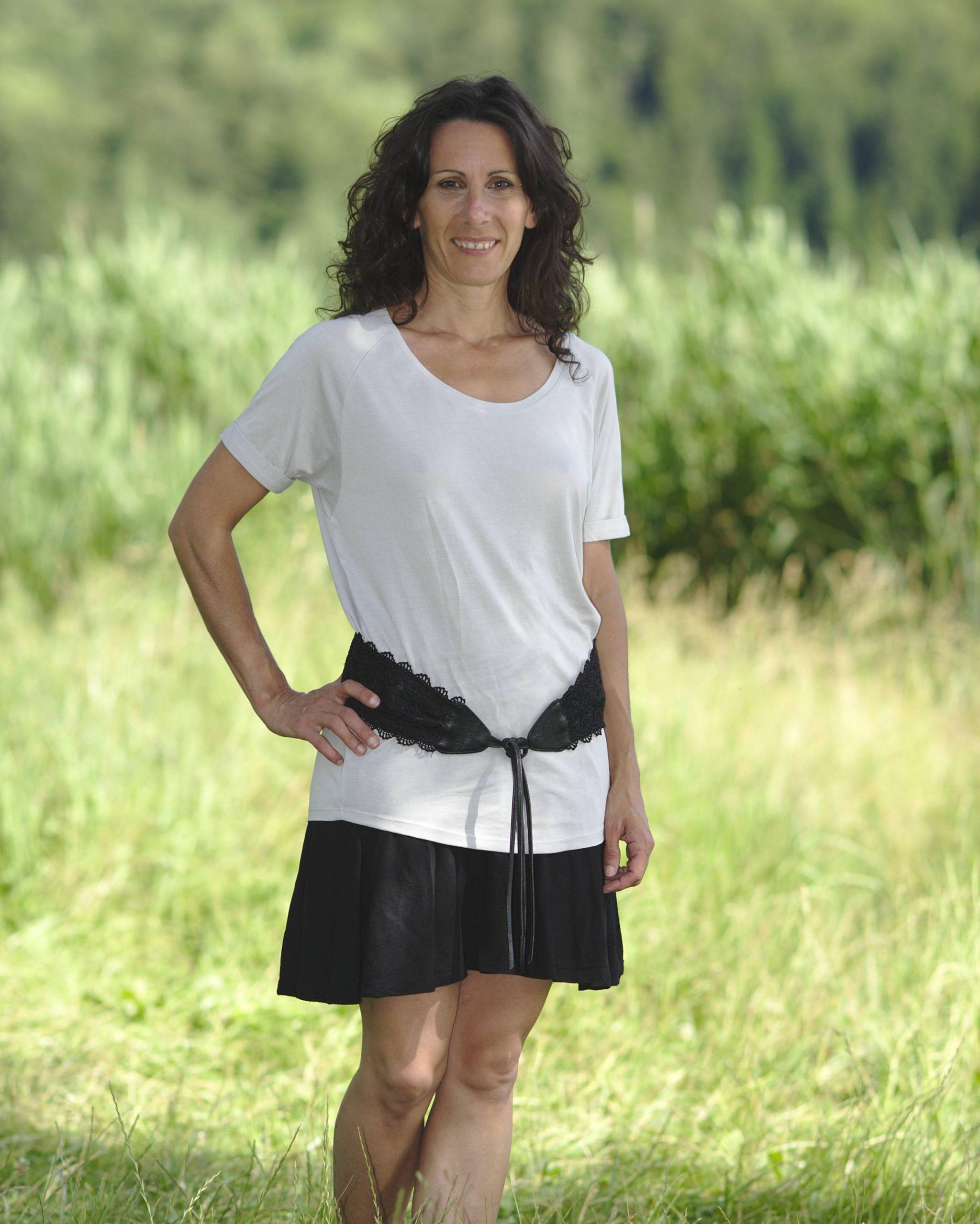 t-shirt manche retrousser blanc en hêtre